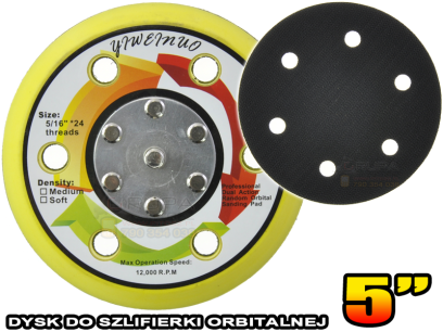 Dysk do szlifierki orbitalnej 5″ / 125mm